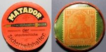 World Coins - German encased postage - Matador - Sicherheitshalter, 10 pfenning Germania