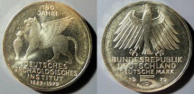 World Coins - German 5 Mark commemorative coin - 1979-J