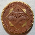 World Coins - German gold gilded brown porcelain medal - German Christian Democrats