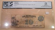 Us Coins - Obsolete currency - JD Hamlin's Banking House, Niagara Falls, NY -- 1862