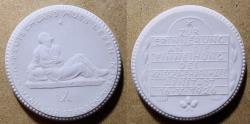 World Coins - German white porcelain medal - war remembrance, Arnstadt
