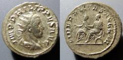 Ancient Coins - Philipp II AR antoninianus, 247-249 AD - LIBERALITAS