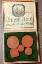 World Coins - very scarce Ulm porcelain notgeld - in original case!