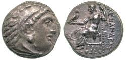 Ancient Coins - Alexander III, the Great, postumus issue, 319-310 BC - IΩ monogram, Kolophon mint