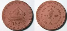 German brown porcelain medal - Altenburg, WWI commemorative