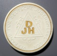 World Coins - Meissen porcelain medal - Deutsche Jugendherbergen - woman with guitar, gold gilding