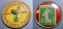 World Coins - French encased postage, Tarragonaise, 5 centimes