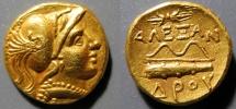 Ancient Coins - Macedon, Alexander the Greeat, 336-323 BC, AV gold 1/4 stater, Amphipolis