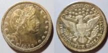 Us Coins - USA Barber quarter, 1907 - interesting toning