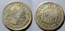 World Coins - 1782 FF, Carlos III, Mexico, 1/2 real