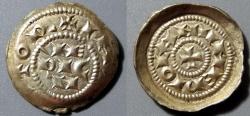 World Coins - Henry III, IV, V, 1039-1125 AD, denaro scodellato, Milan Republic