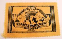 World Coins - German emergency money (notgeld) - made out of velvet - Bielefeld 10 Goldmark