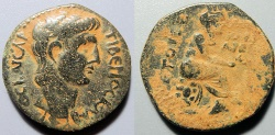 Ancient Coins - Claudius, 41-54 AD, AE25 - Tyche on reverse - Eastern Ciliica or Northern Syria