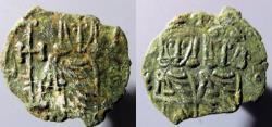 Ancient Coins - Constantine V & Leo IV, 741-775 AD - AE follis, Syracuse