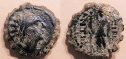 Ancient Coins - Seleucids, Antiochos IV Epiphanes, 175-164 BC serrate AE14, Ake-Ptolemais mint