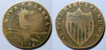 Us Coins - US Colonial Coin - New Jersey Copper, 1786 - Wide Shield