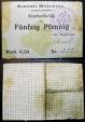 World Coins - German emergency money printed on linen, Wildenstein (1914-1918) - WWI era