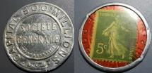 World Coins - French encased postage - Society Generale - 5 centimes