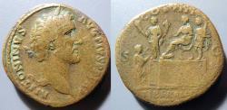 Ancient Coins - Antoninus Pius, 138-161 AD, AE sestertius - Liberalitas reverse - rare