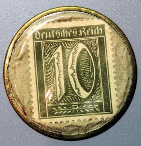 World Coins - German encased postage, J. Schmitt Dampfmuhle - 10 pfennig