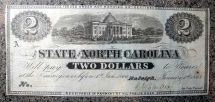 Us Coins - $2 State of North Carolina, Capitol building, medallion 2s (Raleigh)