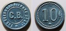 World Coins - Chile - Vulcanite company store token - The Colorado Nitrate Company - 10 cents