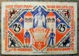 World Coins - German emergency money printed on linen - 25 Mark, Bielefeld
