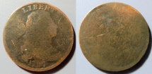 Us Coins - USA Large Cent - 1797, poor reverse, obverse a bit better