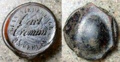 World Coins - BOTTLE SEAL --- NOT German glass coinage / notgeld / token