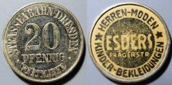 World Coins - German encased streetcar token - 20 pfennig, Esders