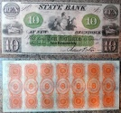 Us Coins - Obsolete currency - New Brunswick, NJ - State Bank at New Brusnwick 18__ $10