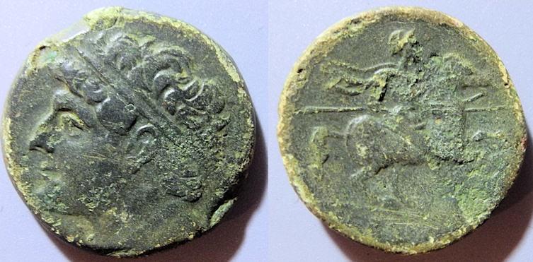 Ancient Coins - Sicily, Syracuse, Hieron II, 274-216 BC - Apollo / horse