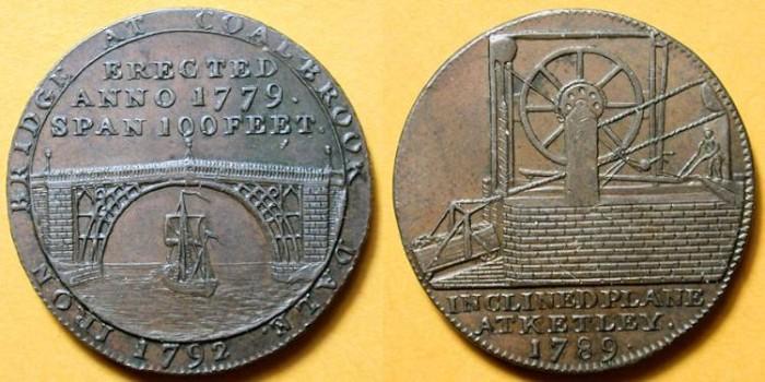 World Coins - Ketlay Canal 1792 - British Token, Halfpenny