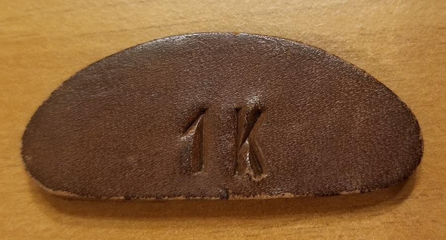 World Coins - Austrian leather coin / currency - Mattighfen (or Matighofen) 1 Kroner - very scarce!