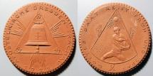 World Coins - German brown porcelain medal - Dresden-Trachau 1922