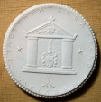 German white porcelain medal - 1922, STADT THEATER BAUFOND