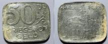 World Coins - German metal emergency money - Hall, 1918 zinc