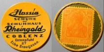 World Coins - German encased postage - Hassia, Rheingold - Schuhe & Schuhhaus