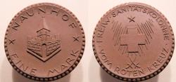 World Coins - German coin made out of brown porcelain - Naunhof, 1920 or 1921 - 1 Mark