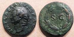 Ancient Coins - Syria, Antioch, Vespasian, 69-79 AD, AE21 - SC in laurel wreath