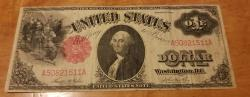Us Coins - 1917 Legal Tender Note, $1