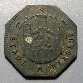 World Coins - German metal notgeld - undated, Montabaur - 5 pfennig