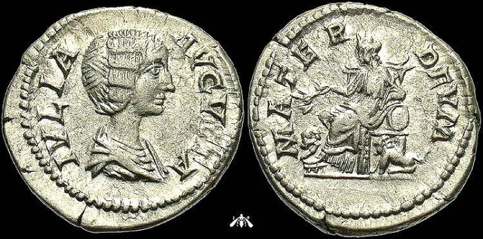 Ancient Coins - Julia Domna, AR Denarius, MATER DEVM Reverse, EF