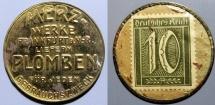 World Coins - German encased postage, Merze - Plomben, 10 pfennig