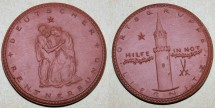 World Coins - German brown porcelain medal - Liegnitz, relief token