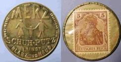 World Coins - German encased postage - Merz Schuh-Putz - 5 pfennig