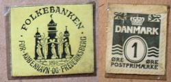 World Coins - Denmark, encased postage - 1 ore, Folkbanken