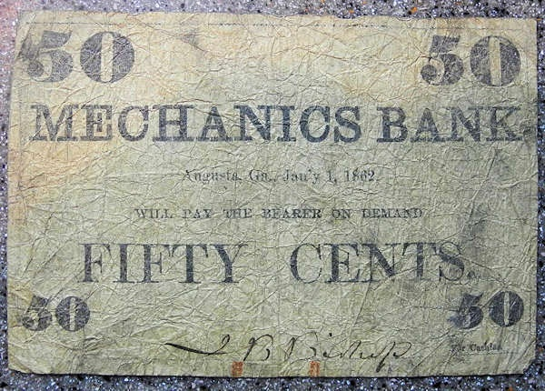 US Coins - Obsolete currency - Mechanics Bank - 50 cents, 1862