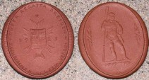 World Coins - German brown porcelain medal - gipsform - Boating, 1923