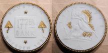 World Coins - German gold gilded white porcelain medal - Dresden / Baustein, 177th remembrance